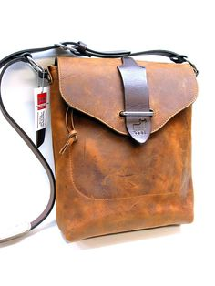 Items similar to Kuuru Book bag in Oiled Brown and Dark Brown Harness Leather on Etsy