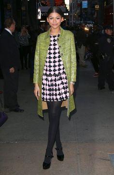 Zendaya Coleman Print Dress