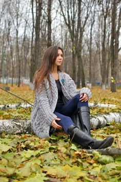 Knitted women cardigan, handmade work, very soft cardigan for women, very beautiful model for any woman Best Cardigans, Cardigans For Women, Beautiful Models, Gorgeous Women, Black Riding Boots, Warm Outfits, Colourful Outfits, Handmade Clothes, Everyday Outfits
