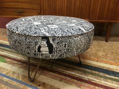 New!! Manchester Doodle Map Footstool - £345