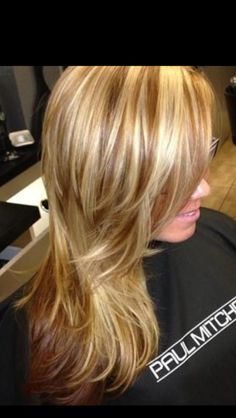 Carmel color with blonde hair color
