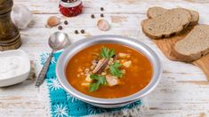 Sviatočná rybacia polievka | Recepty.sk Thai Red Curry, Ethnic Recipes, Food, Red Peppers, Eten, Meals, Diet
