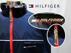 Vtg 90s Tommy Hilfiger Athletics Hip Hop Windbreaker Full Zip Jacket Sz Large #tommyhilfiger #90s #hiphop #streetwear #th #windbreaker