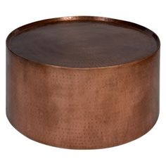 Shop for Wanderloot Rotonde Hammered Copper Metal Industrial Round Coffee Table (India). Get free delivery at Overstock.com - Your Online Furniture Destination! Get 5% in rewards with Club O!