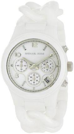 Michael Kors Women's MK5387 Ceramic Classic Chronograph White Watch http://suliaszone.com/michael-kors-womens-mk5387-ceramic-classic-chronograph-white-watch/
