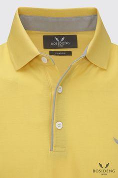 www.bosidenglondon.com Polo Shirt Style, Polo Shirt Design, Polo Design, Mens Printed Shirts, Mens Polo T Shirts, Camisa Polo, Sailing Outfit, African Men Fashion, Men's Fashion