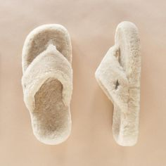Slippers - Loving these open-toed shearling slippers