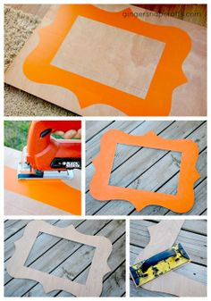 DIY frame tutorial, use cardboard instead to be earth friendly
