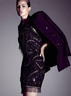 Cameron Russell by Alexi Lubomirski for Vogue Mexico October 2014; Love the color Aubergine