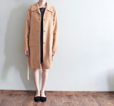 100% double-sided cashmere wool belted robe-style by Metaformose