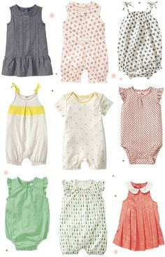 Sweet baby girl. Some baby Gap faves. I am totally in love with that pear romper. LOVE. More baby/kids, HERE . >>>M
