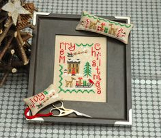 Christmas Trio Cross Stitch Pattern Instant Download by tinymodernist