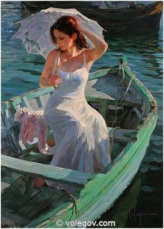 Vladimir Volegov premier art gallery is committed to the philosophy of offering dealer prices to the public on our fine art paintings, and prints. Vladimir Volegov, Fine Art, Figure Painting, Boat Painting, Painting Art, Beautiful Paintings, Oeuvre D'art, Female Art, Amazing Art