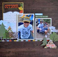 Take a  Hike Collection - Simple Stories.  Perfect for scrapping the guys trip to Canada