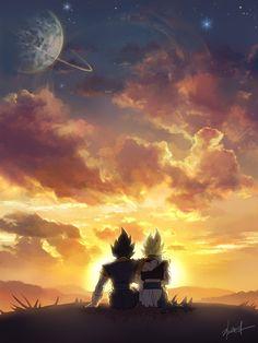 en esta imagen se ve amistad porque vegeta y gogeta se están abrazando mirando pal cielo y recordando momentos