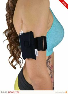 Athletic Neoprene Insulin Pump Case Pouch w/ Arm Belt by PumpCases