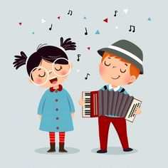 Cartoon Faces, Cartoon Drawings, Cute Drawings, Cute Doodle Art, Cute Art, Children's Book Illustration, Character Illustration, Singing Drawing, Little Girl Singing