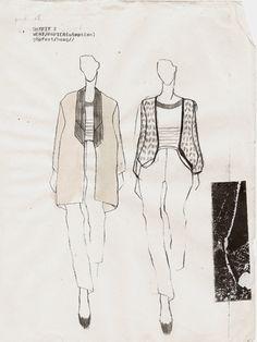 Fashion Sketchbook - fashion design sketches; textiles design for fashion; pattern & print development // Nadine Goepfert