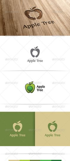 Apple Tree — Vector EPS #food #floral • Available here → https://graphicriver.net/item/apple-tree/3536688?ref=pxcr