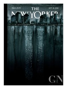 """Poetic & impact at the same time, a rare combo on a cover. This weeks cover The New Yorker. Silence here, love this Read also here the story by editor David Remnick. Illustration """"Reflections"""" by Ana Juan (Twin Towers, The New Yorker, New Yorker Covers, Web Design, Graphic Design, Book Design, Capas New Yorker, Portfolio Illustration, Magazine Illustration, Magazine Ideas"""