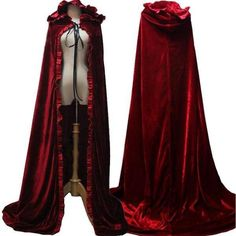 2017 Newest Red Cloak Hood Long Red Cloak For Adult Winter Princess Snow White Belle Aurora Princess Cosplay Cloak Halloween Pretty Outfits, Cool Outfits, Fashion Outfits, Style Fashion, Winter Princess, Mode Abaya, Belle Beauty And The Beast, Dress Drawing, Capes