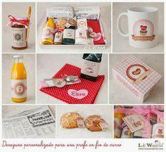 Lola Wonderful_Blog: Desayunos personalizados, regala sonrisas matutinas. Lola Wonderful, Ideas Para Fiestas, Gift Baskets, Diy Gifts, Catering, Presents, Packaging, Valentines Day, Blog