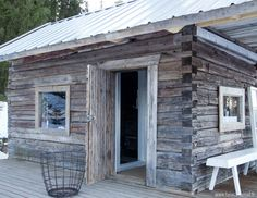 Find more info at the website simply press the tab for more options -- clearlight sauna Swedish Sauna, Finnish Sauna, Cabin Homes, Log Homes, Clearlight Sauna, Outdoor Sauna, Outdoor Decor, Tiny Log Cabins, Arch Interior
