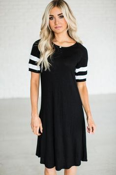 Everyday Track Dress - Black