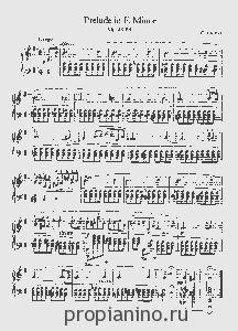 Ноты Прелюдия op. 28 №4 (Шопен)