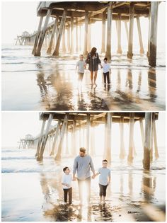 The Huntington Beach Pier is always a perfect spot for beautiful family photos with yummy sunset lighting. This family will give you all the family photo outfit inspiration you'll need, too. I'm Nola, an Orange County family photographer and I'd love to capture your family's memories! Beach Family Photos, Beach Pictures, Huntington Beach Pier, Seal Beach, Beach Sessions, Family Photo Outfits, Portrait Inspiration, Children And Family, Beautiful Family