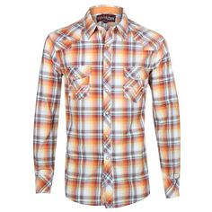 Rock & Roll Cowboy Men's Plaid Long Sleeve Western Shirt Country Shirts, Country Outfits, Western Shirts, Cowboy Outfits, Western Outfits, Western Wear, Casual Winter Outfits, Casual Wear, Boating Outfit