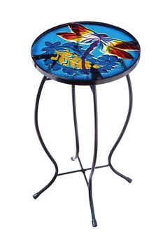 #Ebay #Small #Round #End #Table #Accent #Side #Glass #Metal #Outdoor #Patio #Display #Deck #Indoor #Unbranded #Contemporary