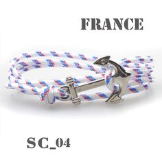 New DIY Charm Survival Rope Chain 3mm Wrap hope Anchor Bracelet Fashion Women Men Hooks Bracelets Wholesale Bangle Hot Saling - 4