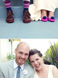 Not much for shoe photos, but love the colors! & the happy smiles!