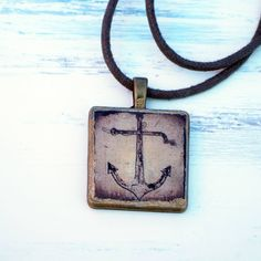 Bronze, Dog Tags, Dog Tag Necklace, Gold, Etsy, Jewelry, Antique Necklace, Anchor, Embellishments