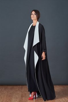 BOUGUESSA F/W15-16 Collection - Two tone Loose Viscose Abaya