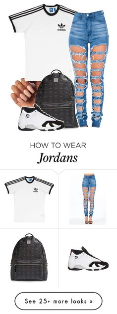 """""""Flee"""" by dajvuuloaf on Polyvore featuring adidas, MCM and Retrò"""