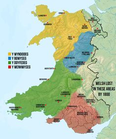 Map of Welsh dialects, made by me based off a collection of others. [2000×2390] - Imgur