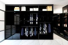 Glossy Black Wardrobe