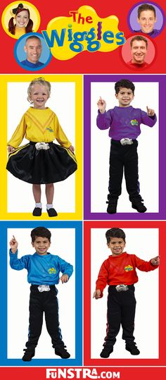 The Wiggles Costumes available now at Funstra. Dress up as Emma in yellow, Lachy in purple, Simon in red or Anthony in blue and sing, dance, wiggle and giggle with our Wiggles costumes. Wiggles Party, Wiggles Birthday, The Wiggles, Family Halloween Costumes, Diy Costumes, Halloween Themes, Costume Ideas, Costumes Starting With B, 2nd Birthday Parties