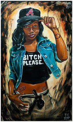 JEREMY WORST Bitch Please Original Artwork Signed by JeremyWorst, $45.00