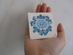 "Temporary Tattoo - Vintage Dutch ""Delfts Blauw"""