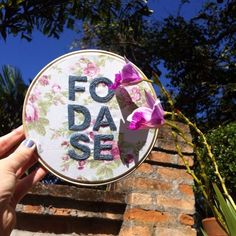 Foda-se . Embroidery by Clube do Bordado #clubedobordado #embroidery #bordado