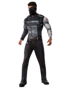 Check out Men's Marvel's Civil War Deluxe Muscle Chest Winter Soldier Costume - TV & Movie Mens Costumes from Wholesale Halloween Costumes