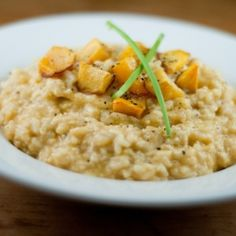 Vegan Risotto with Roasted Pumpkin - this looks like an excellent fall side dish
