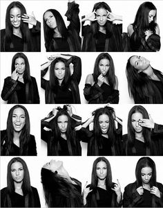 Alicia Keys silly in the photo booth on designyoutrust.com