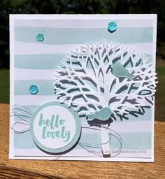 Here's another card idea with the Thoughtful Branches Bundle. Video on the blog! Lisa Brown www.inkandinspirations.com
