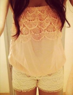 Lacey Shorts And Top