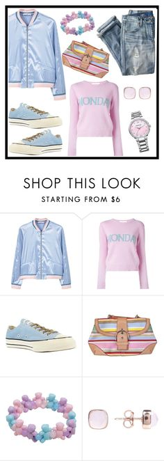 """""""Bomber Lover"""" by tlb0318 ❤ liked on Polyvore featuring MANGO, Alberta Ferretti, J.Crew, Converse, Coach and Swarovski"""