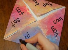 Learning to Read with a Cootie Catcher - Kids Activities Blog